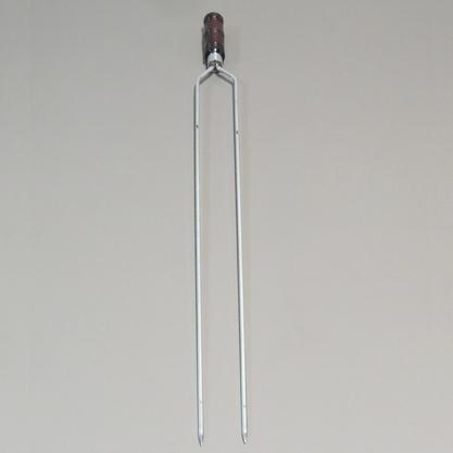 Espeto Duplo em Alumínio 96cm - Carnes Largas e Coração