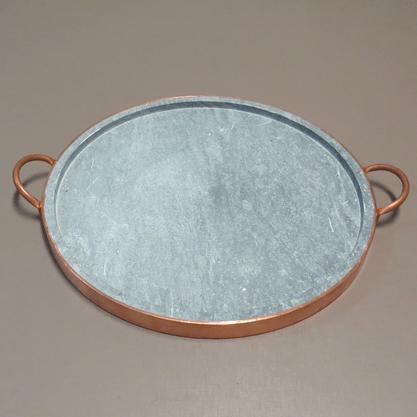 Forma Redonda para Pizza em Pedra Sabão 38cm