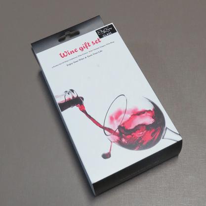Kit de Acessórios para Vinho com Aerador, Bomba a Vácuo, Saca-Rolhas e Anel de Garrafa