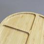 Gamela Petisqueira Redonda em Bambu 3 Divisórias