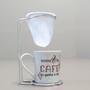 Kit Café com Caneca 130ml e Coador de Tecido Depois do Café