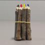 Kit de Lápis Decorativos de Tronco de Árvore 12cm