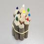 Kit de Lápis Decorativos de Tronco de Árvore 14cm