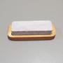 Pedra de Afiar Dupla Face com Suporte - 7,5cm x 18,5cm