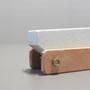 Afiador de Facas em Pedra Sabão com Suporte - 18cm x 4cm