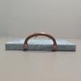 Pedra Sabão para Fondue de Carne 20cmx30cm com Alça