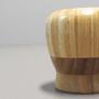Pilão em Bambu com Socador para Temperos