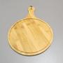 Tábua de Corte Redonda em Bambu 29,5cmx43,5cmx1cm
