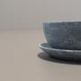 Tigela Bowl 350ml com Prato em Pedra Sabão
